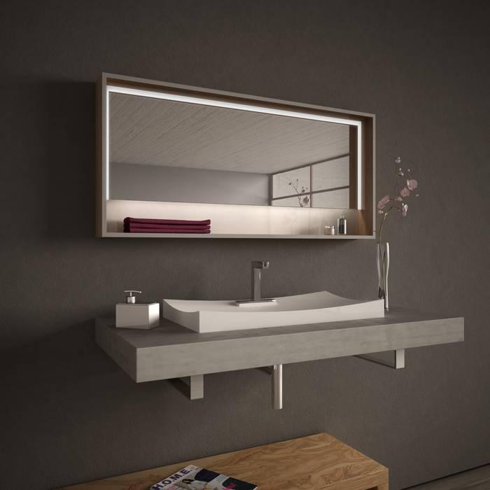 Lionidas Spiegelmöbel beleuchtet Beyond Lionidas Design GmbH BadezimmerSpiegel