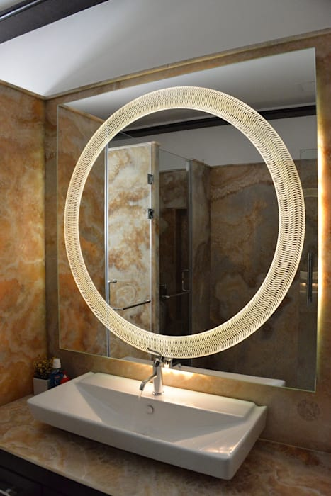 'Cosmic' Glazz Mirrors: modern  by Alguacil & Perkoff Ltd., Modern Glass
