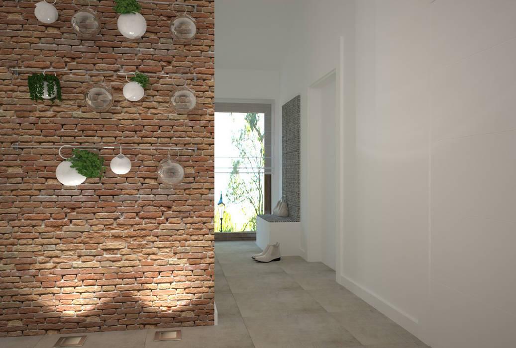 Dom w Łodzi - salon z kuchnią - nowoczesność z elementami skandynawskimi: styl , w kategorii Jadalnia zaprojektowany przez Kameleon - Kreatywne Studio Projektowania Wnętrz