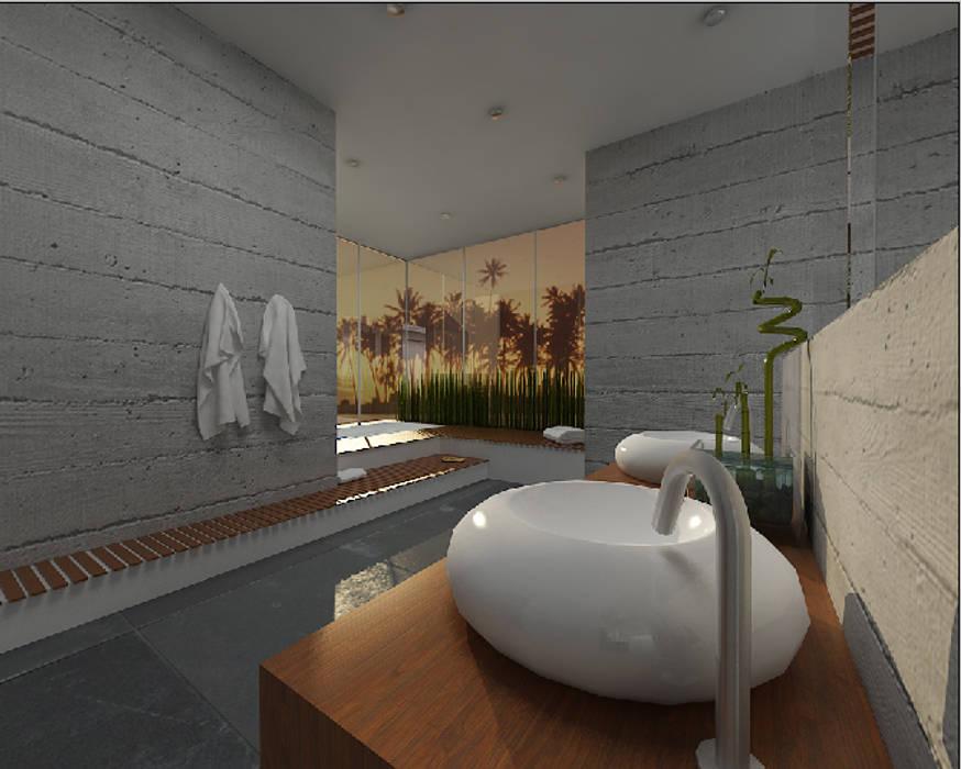 Salon kąpielowy - nowoczesność w Poznaniu Minimalistyczna łazienka od Kameleon - Kreatywne Studio Projektowania Wnętrz Minimalistyczny