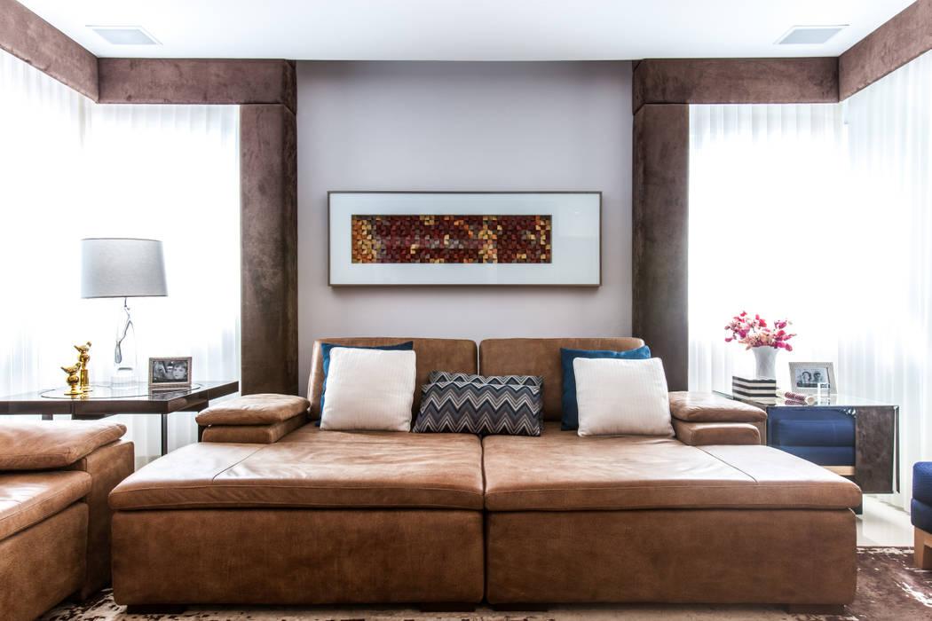 Sala de Estar: Salas de estar  por Barbara Dundes | ARQ + DESIGN