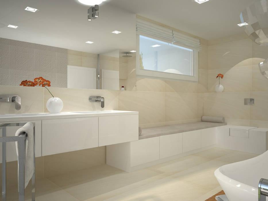 Dom w stylu bauhaus - Niemcy Minimalistyczna łazienka od Kameleon - Kreatywne Studio Projektowania Wnętrz Minimalistyczny