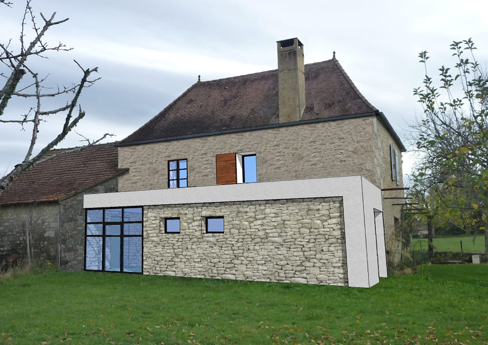 Insertion: Maisons de style de style Moderne par MAURO LOMBARDO ARCHITECTE