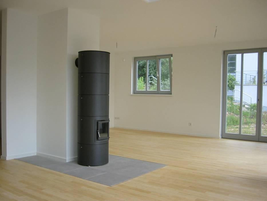 Kaminofen Bambusparkett Hell Wohnzimmer Von Architekturburo Seipel