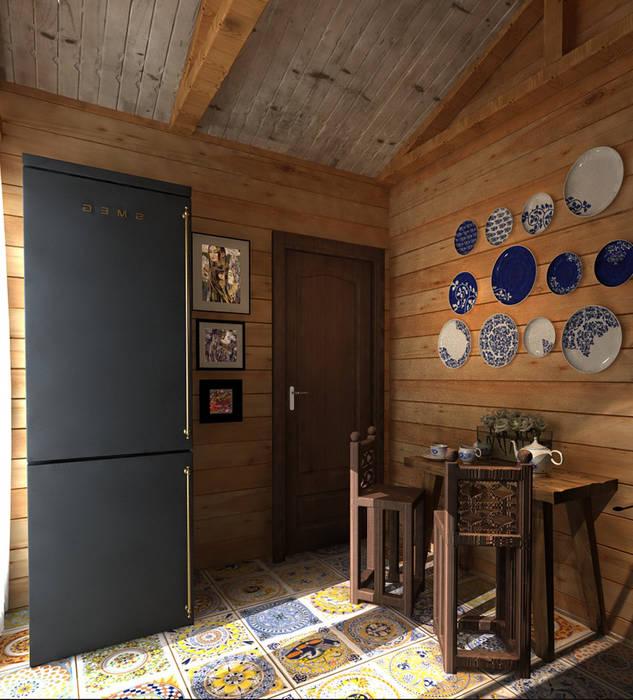 Дизайн частного дома в поселке закрытого типа. Anarchi&И.Мальцев Кухня в рустикальном стиле от AnARCHI Рустикальный