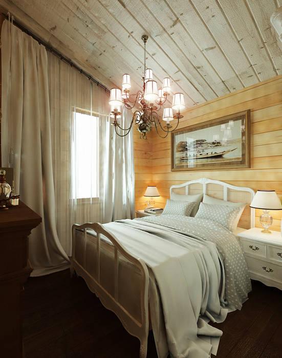 Дизайн частного дома в поселке закрытого типа. Anarchi&И.Мальцев: Спальни в . Автор – AnARCHI,