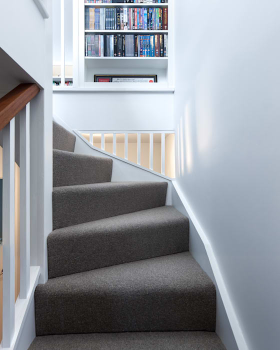 Blackheath House Modern corridor, hallway & stairs by APE Architecture & Design Ltd. Modern