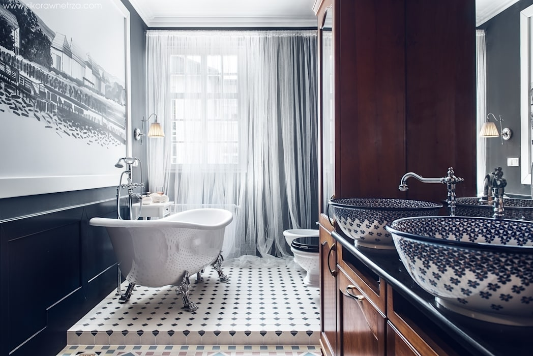 APARTAMENT W SOPOCIE Eklektyczna łazienka od Sikora Wnetrza Eklektyczny