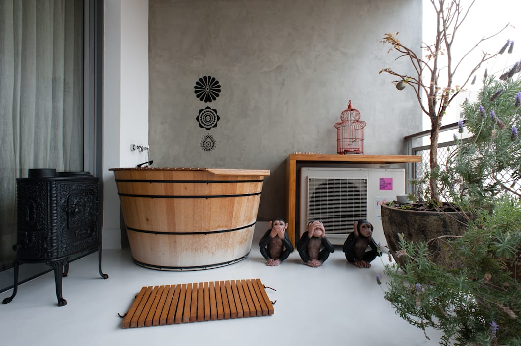 Aimbere Varandas, alpendres e terraços industriais por PM Arquitetura Industrial