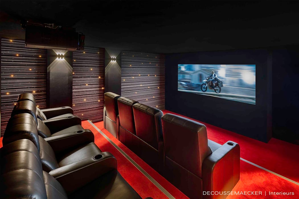 Media room by Decoussemaecker Interieurs