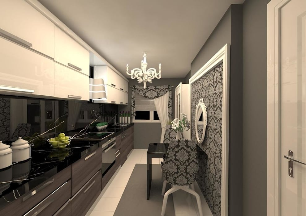 Cocinas de estilo minimalista de erenyan mimarlık proje&tasarım Minimalista