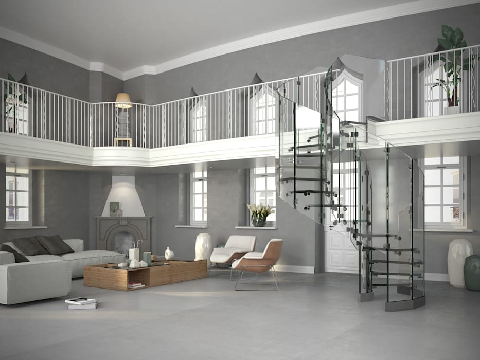 Siller Treppen/Stairs/Scale Stairs Glass Transparent