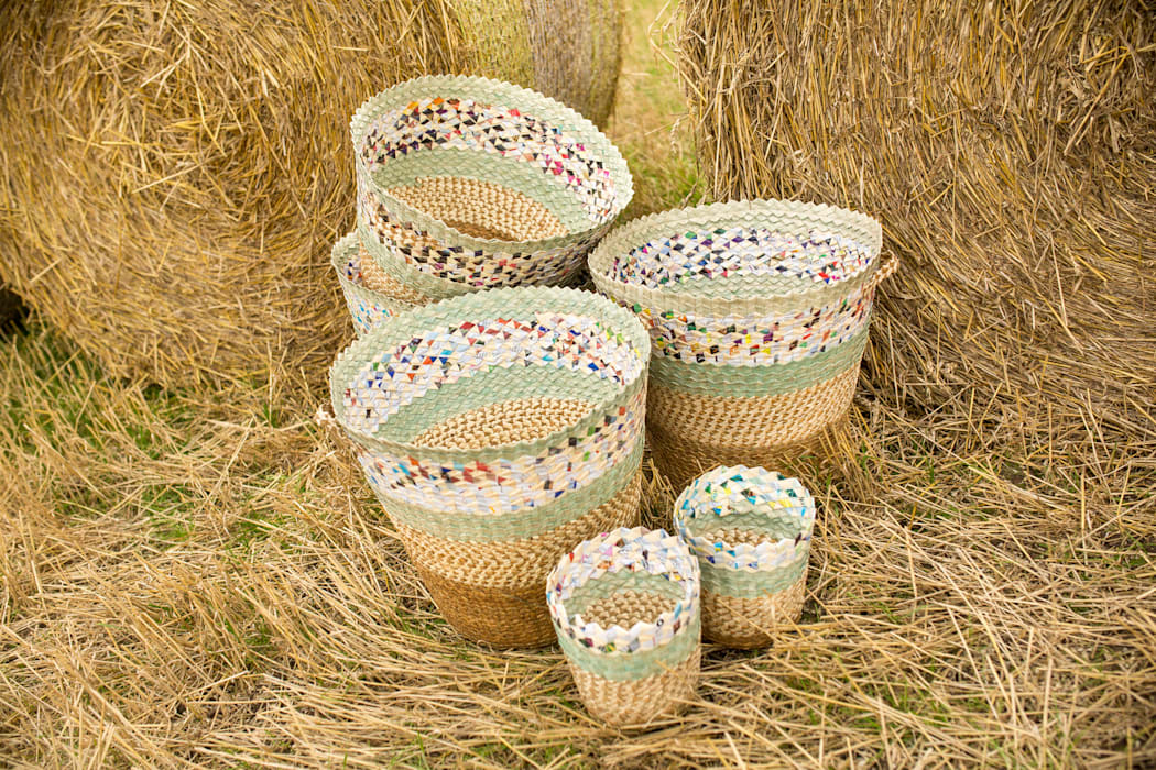 Woven Palm and Paper Baskets: classic  by RE, Classic