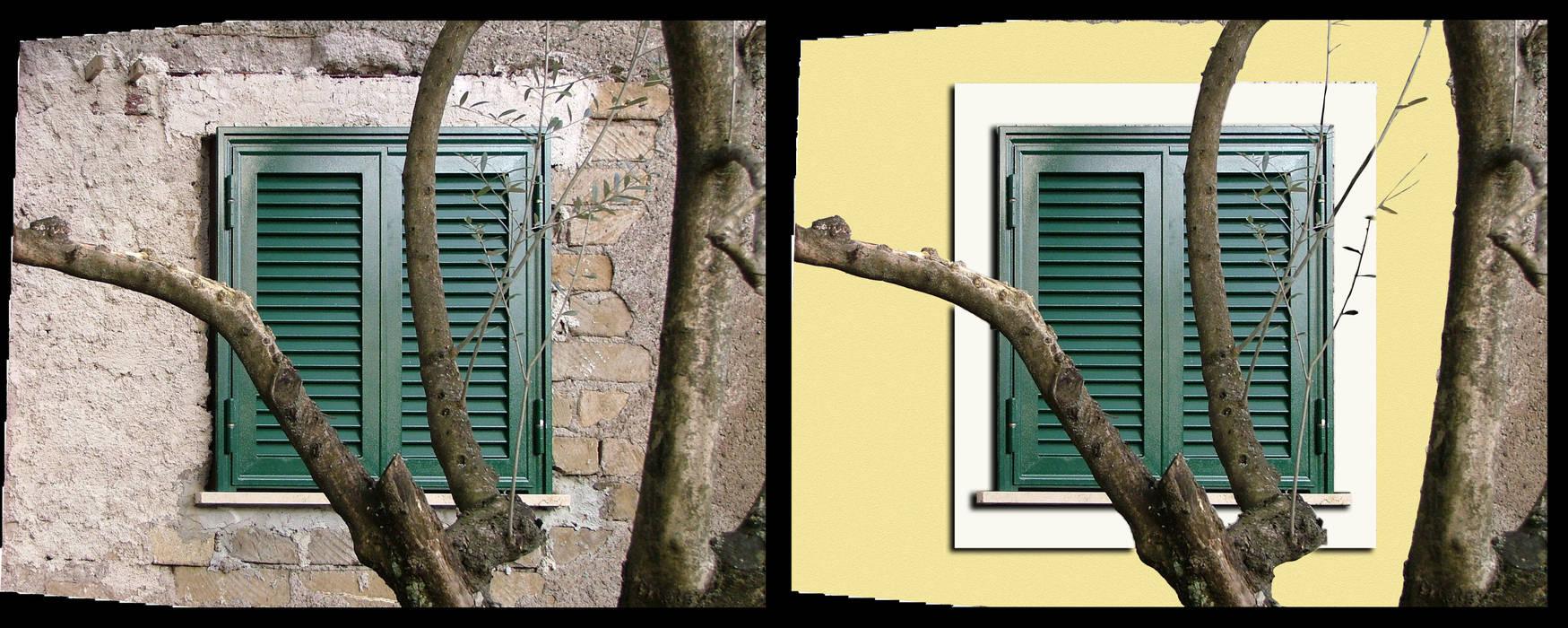 La cornice esterna delle finestre: Finestre in stile  di Adriano Palmarini Architetto