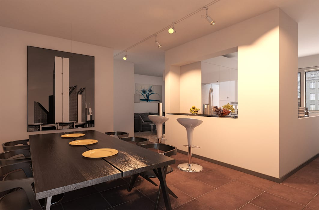 Appartamento ad Udine: Cucina in stile in stile Moderno di I-Render