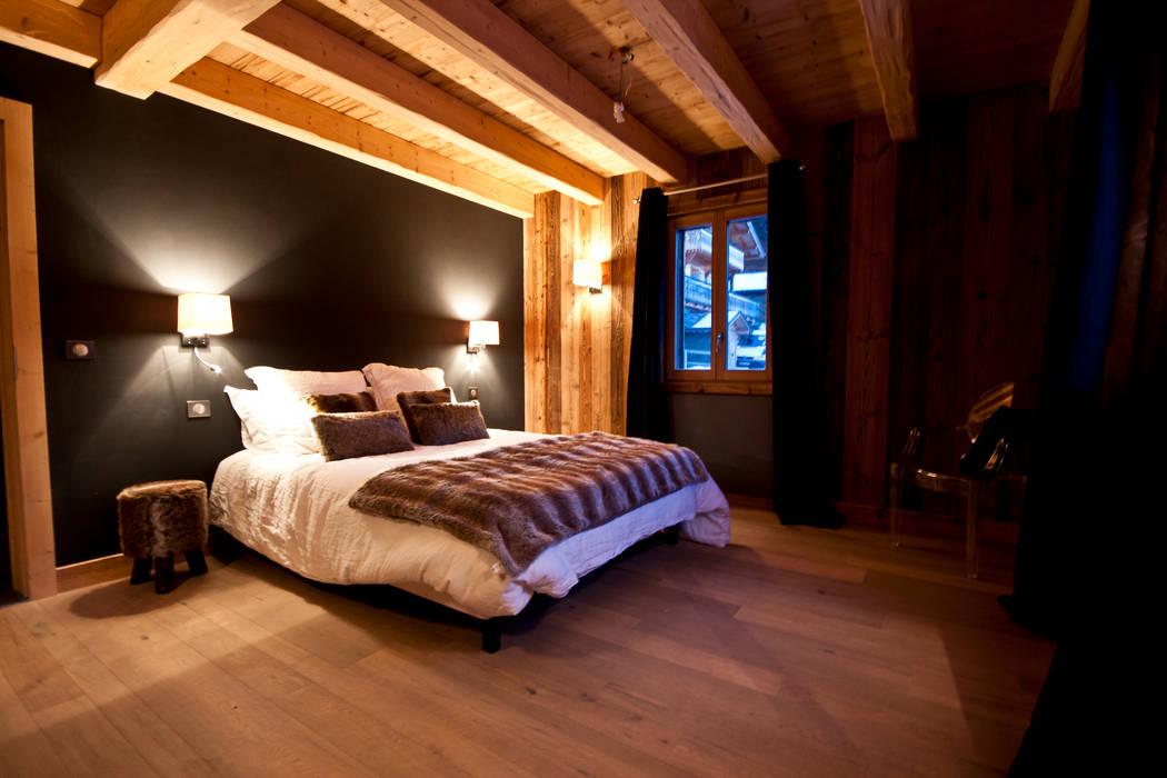 Chalet de Claude: chambre 1: Chambre de style  par shep&kyles design