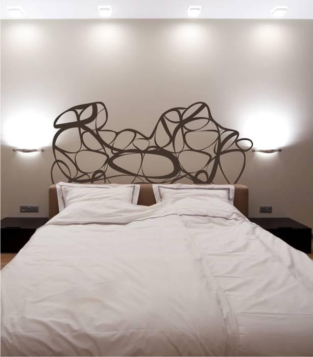 Vinilo decorativo cabecero de cama formas modernas - Vinilo cabecero cama ...