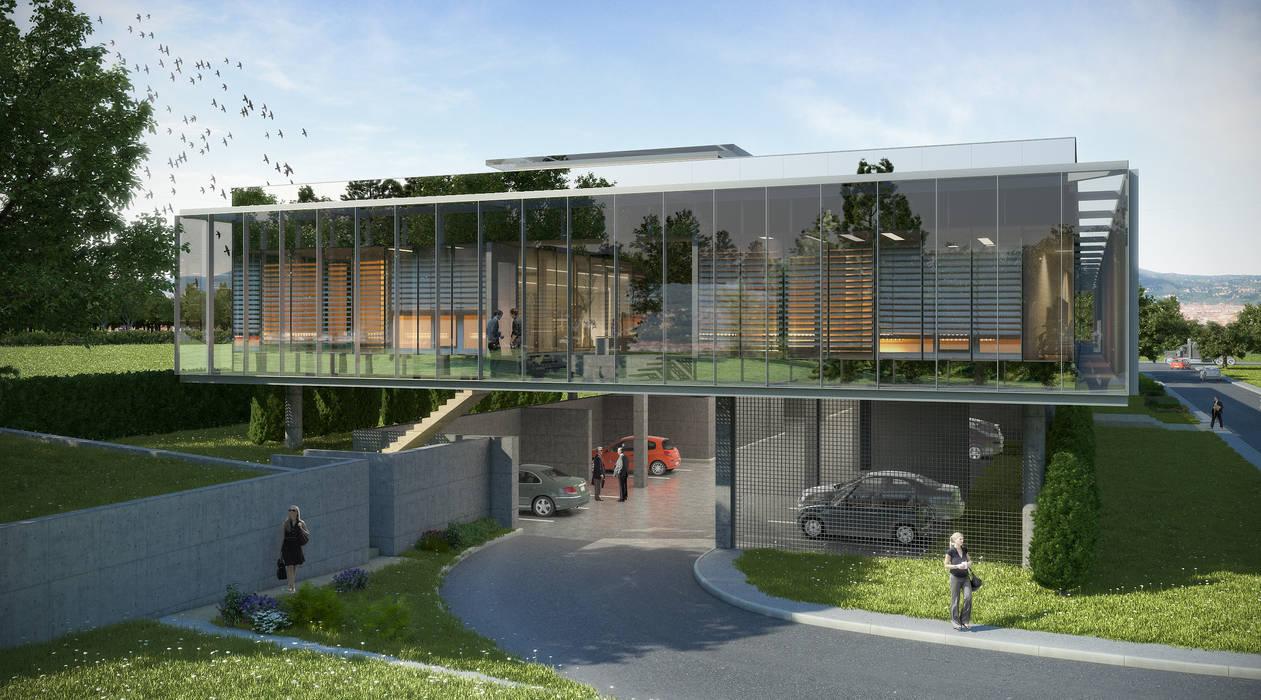ŞİŞECAM Yelabuga Administrative Building of Auto Glass Factory de ERBUĞ MİMARLIK Moderno