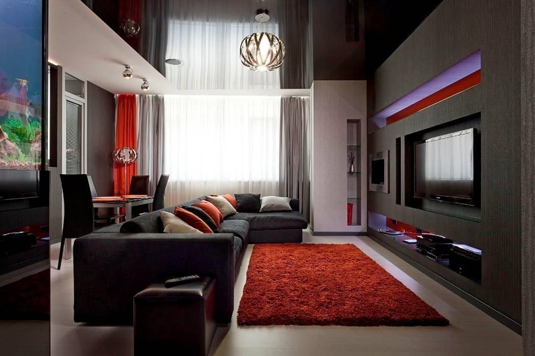 Minimalist living room by Gorshkov design Minimalist