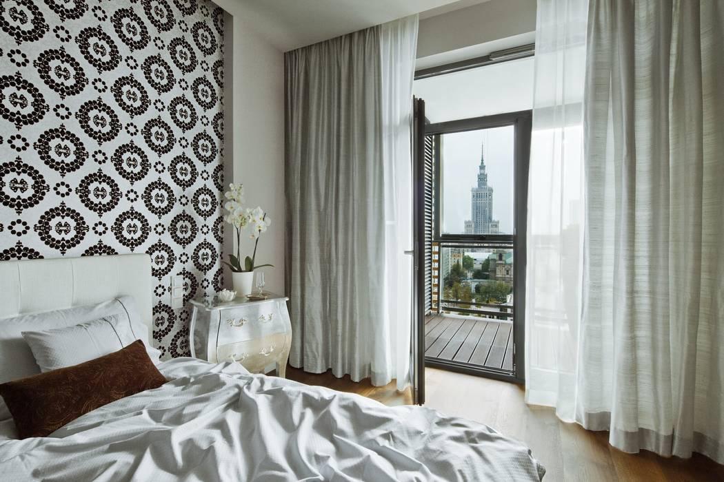 Sypialnia tylko dla gości Eklektyczna sypialnia od living box Eklektyczny