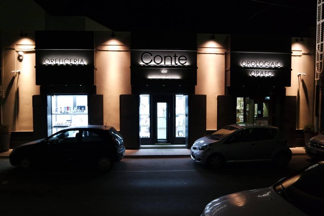 Illuminazione esterna: negozi & locali commerciali in stile di
