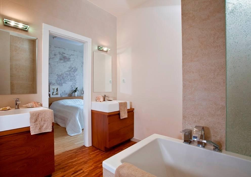 Łazienka Eklektyczna łazienka od living box Eklektyczny