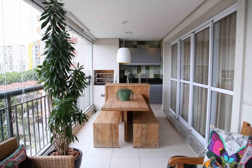 Vila Mascote III Varandas, alpendres e terraços modernos por MeyerCortez arquitetura & design Moderno