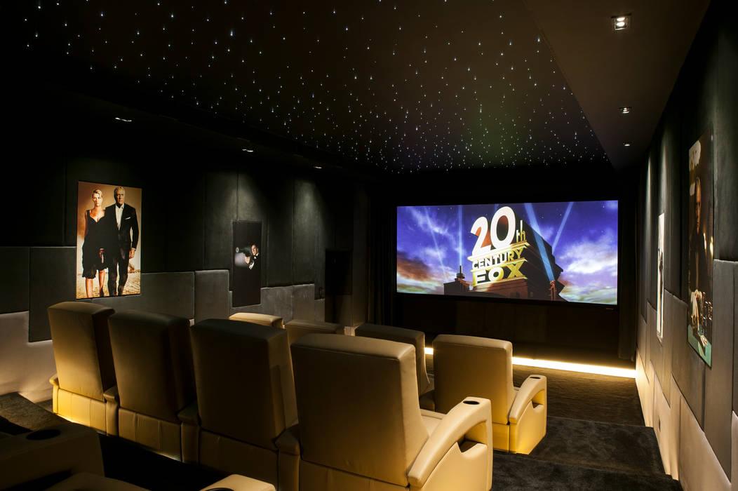 007 Home Cinema Modern media room by Finite Solutions Modern