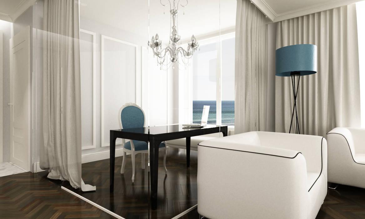 Gabinet: styl , w kategorii Domowe biuro i gabinet zaprojektowany przez living box