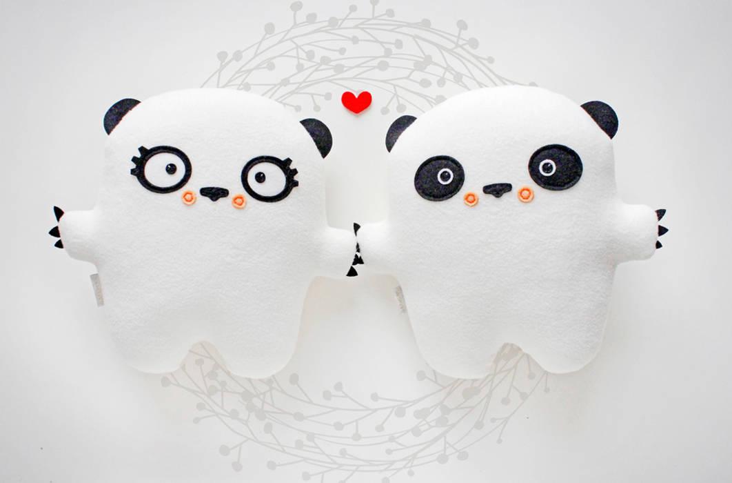 Pan i Pani Panda Minimalistyczny pokój dziecięcy od BAMBAKI Minimalistyczny