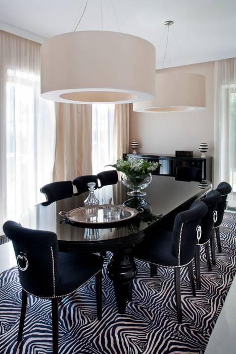 Elegancka jadalnia : styl , w kategorii Jadalnia zaprojektowany przez living box