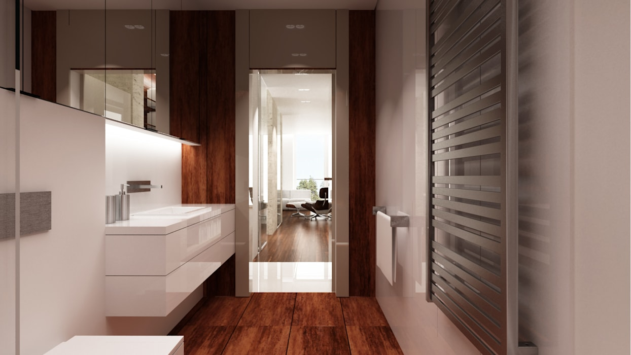 Minimalist style bathroom by living box Minimalist