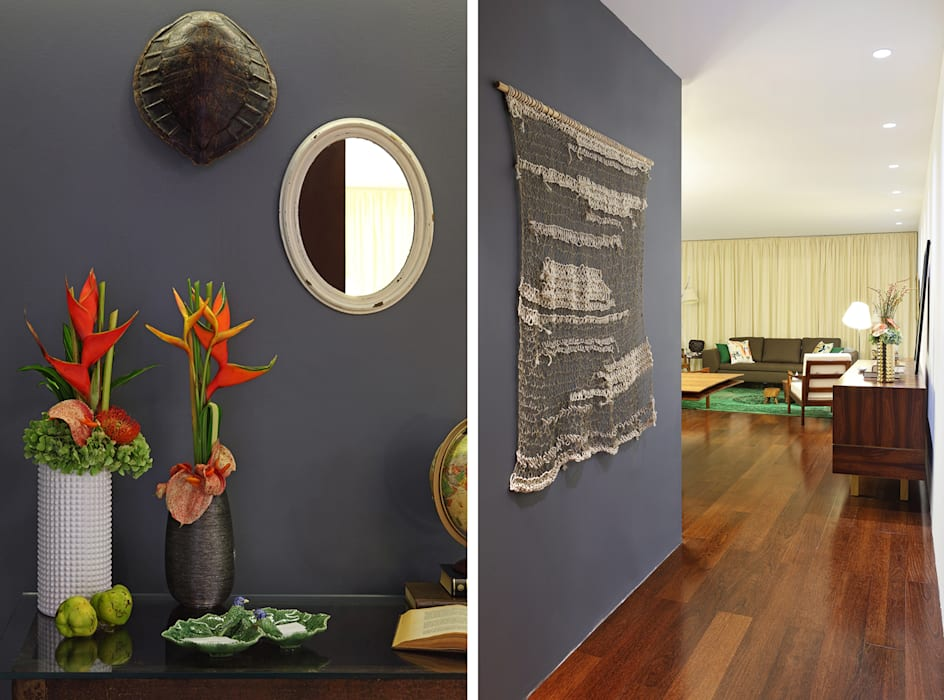 Colonial style corridor, hallway& stairs by Tiago Patricio Rodrigues, Arquitectura e Interiores Colonial