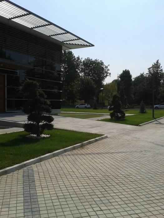 Çisem Peyzaj Tasarım – Sakarya 1.Organize Sanayi Bölgesi Müdürlük Binası bahçesi Peyzaj Uygulaması:  tarz Etkinlik merkezleri, Modern