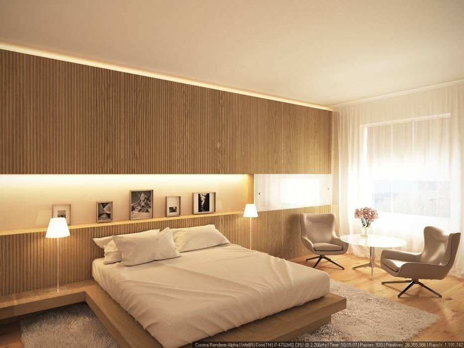 1-й вариант гостевой спальни: Спальни в . Автор – ECOForma