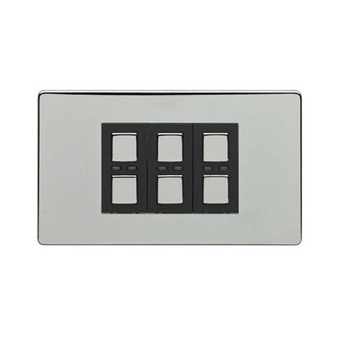 LIGHTWAVERF 210W 3 GANG DIMMER SWITCH (CHROME): modern  by DirectTradeSupplies, Modern