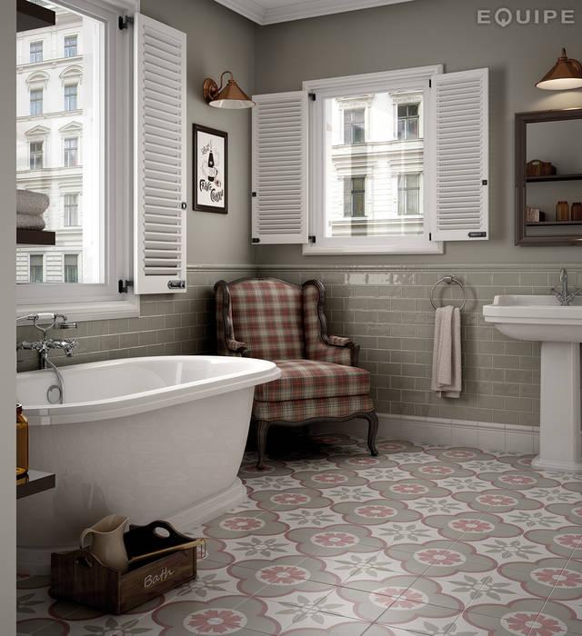 Rustic style bathroom by Equipe Ceramicas Rustic