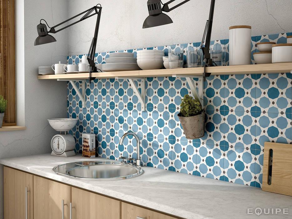 Cocinas de estilo  por Equipe Ceramicas, Rústico