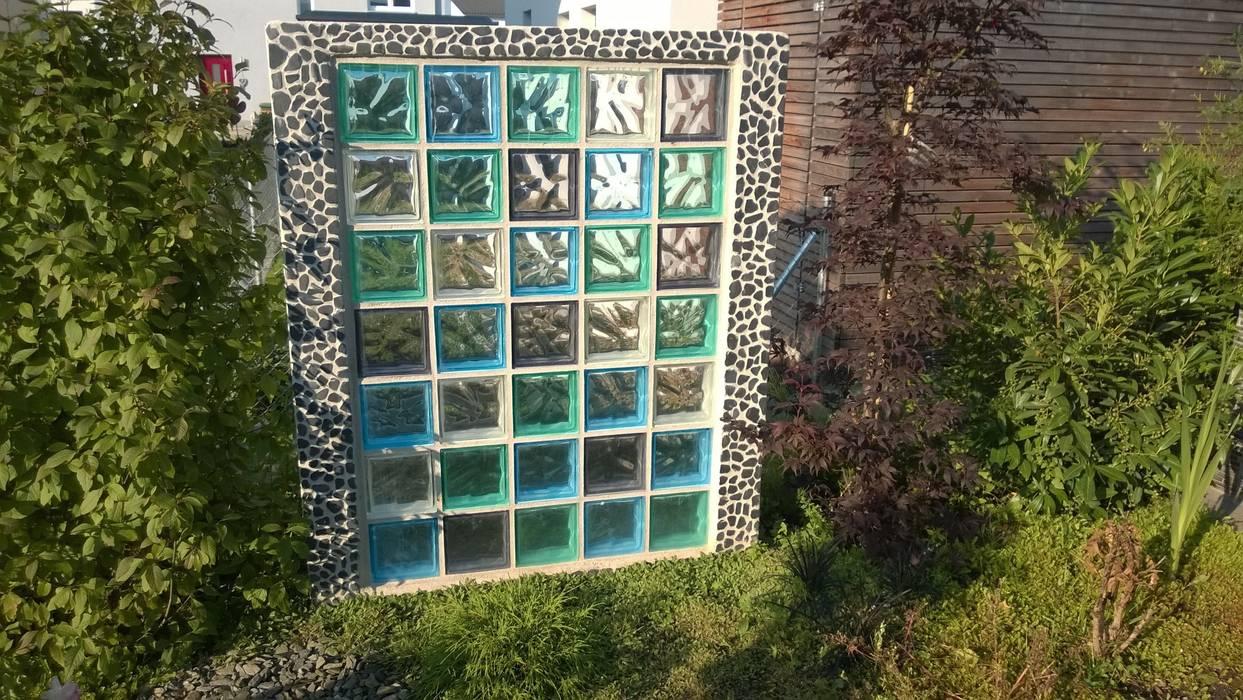 Sichtschutz Aus Glasbausteinen Ausgefallener Garten Von Neues