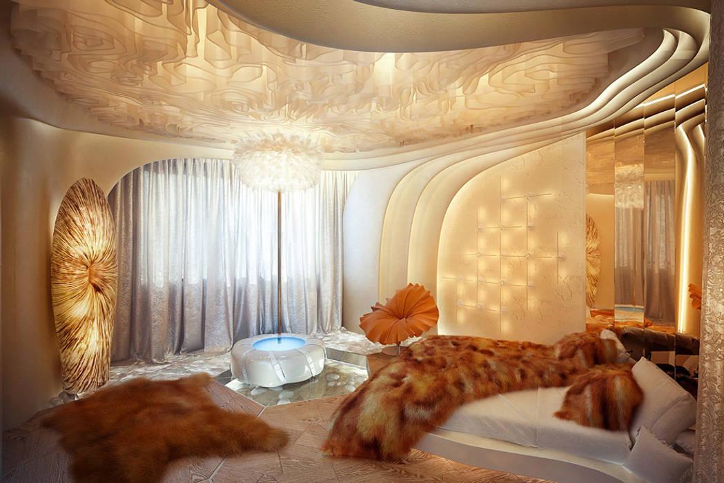 Футуристическая квартира в Москве Cтудия дизайна Станислава Орехова Гостиная в стиле модерн