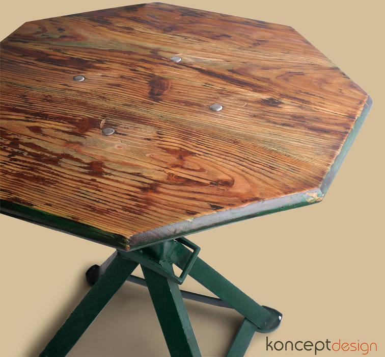 """Stół """"Z warsztatu na salony"""": styl , w kategorii Salon zaprojektowany przez Konceptdesign,"""