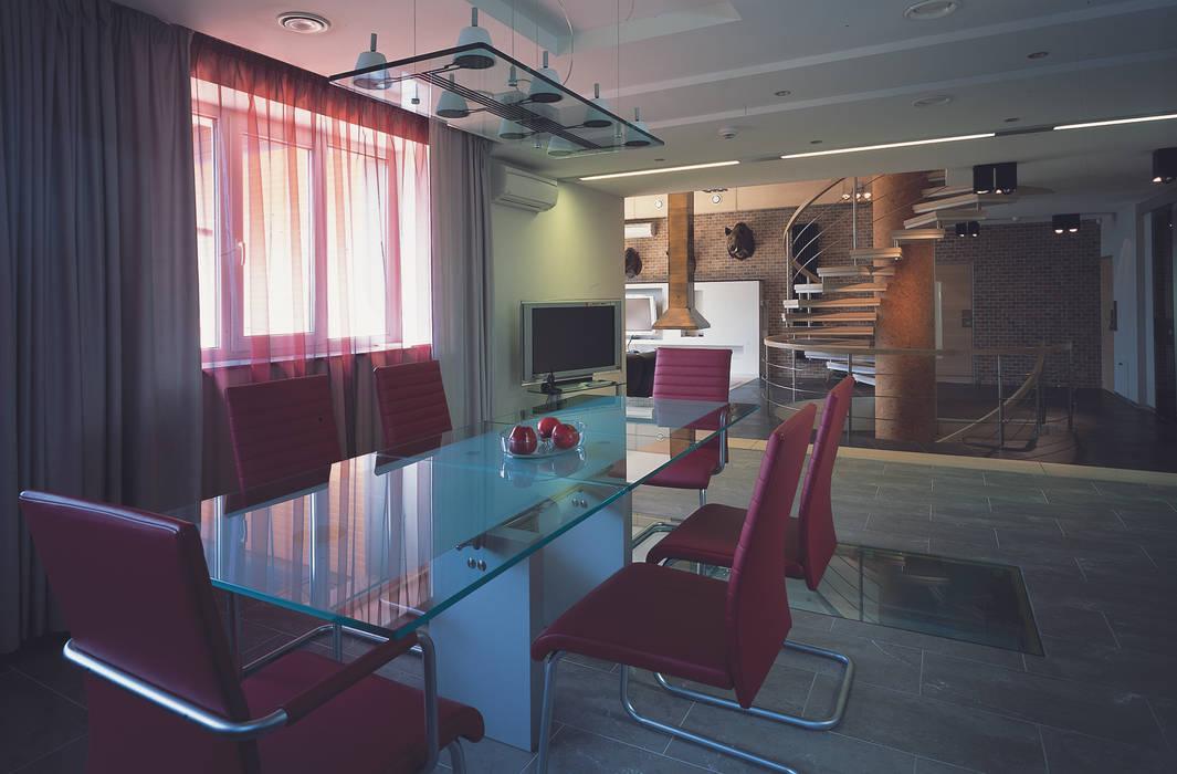 Столовая комната Столовая комната в стиле минимализм от (DZ)M Интеллектуальный Дизайн Минимализм