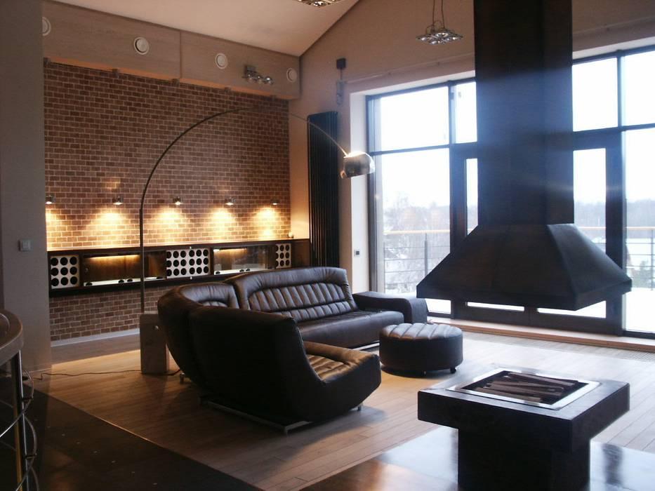 Гостиная Гостиная в стиле лофт от (DZ)M Интеллектуальный Дизайн Лофт