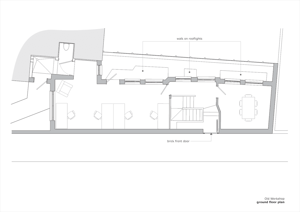 Old Workshop - ground floor plan de Jack Woolley