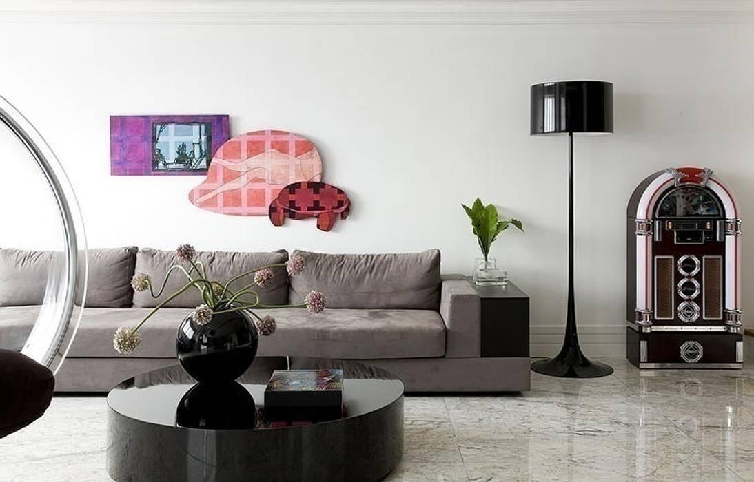 STUDIO CAMILA VALENTINI Ruang Keluarga Modern