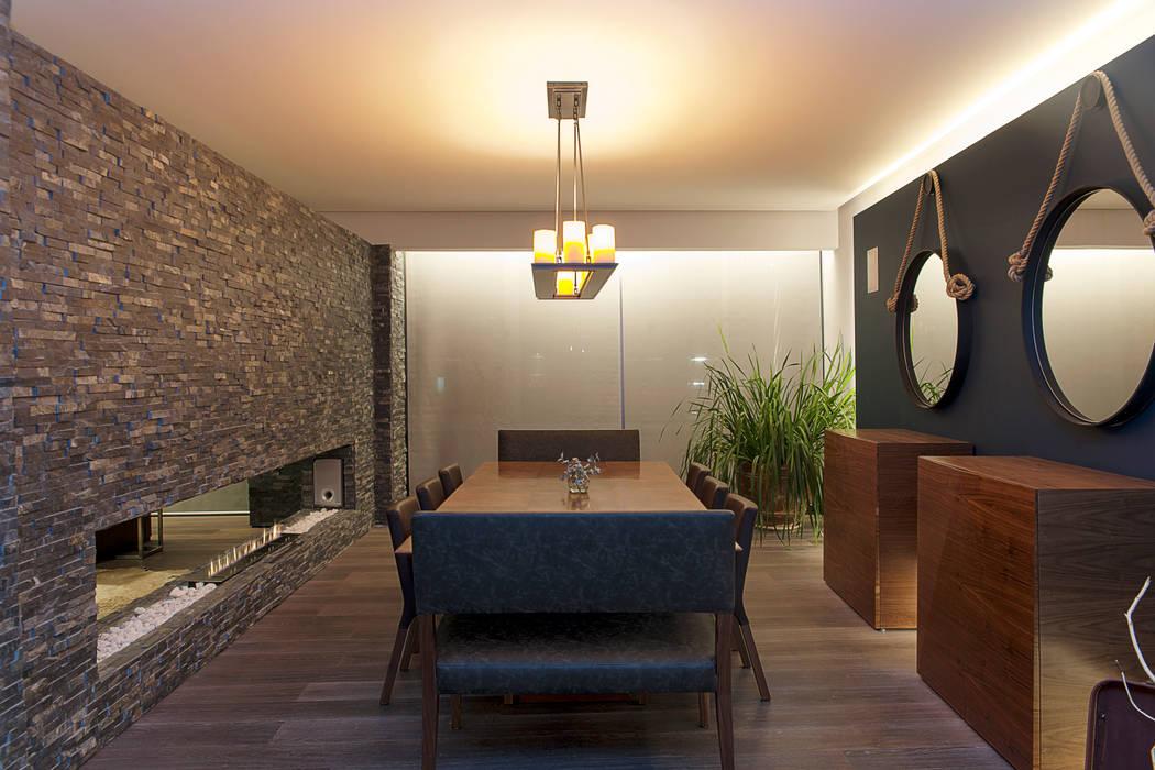 Departamento DL : Comedores de estilo moderno por kababie arquitectos