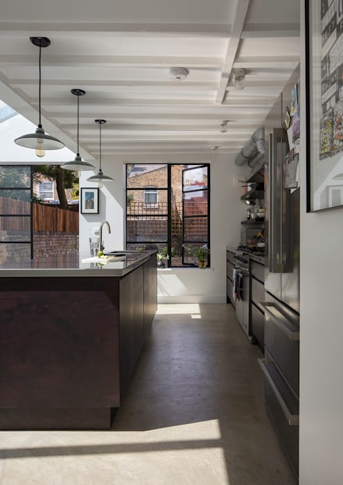 Kitchen Diner Cocinas de estilo industrial de Mustard Architects Industrial