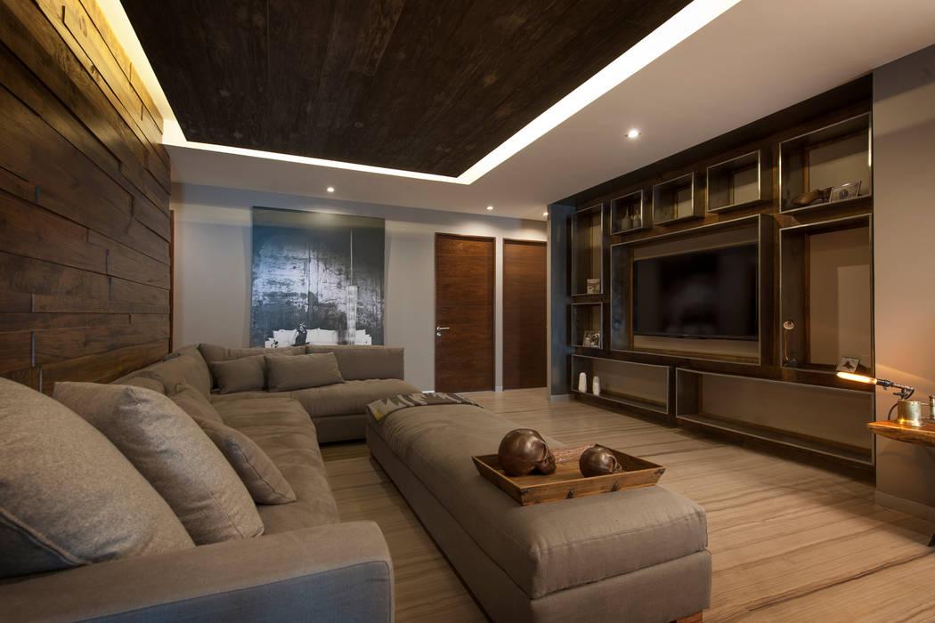Departamento CM: Salas de estilo moderno por kababie arquitectos