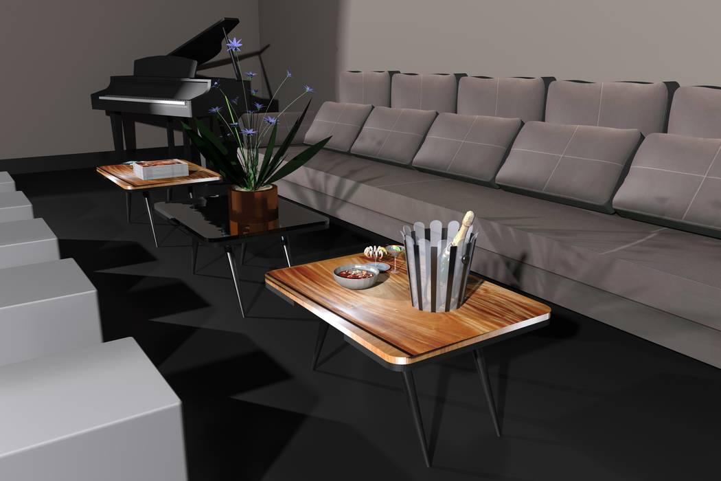 Pellegrini's Lounge Table: Salon de style  par Alguma Coisa Design