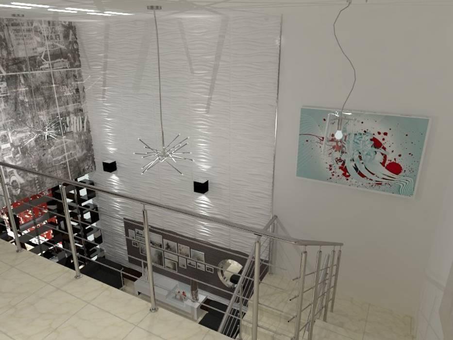 Modern Corridor, Hallway and Staircase by AurEa 34 -Arquitectura tu Espacio- Modern